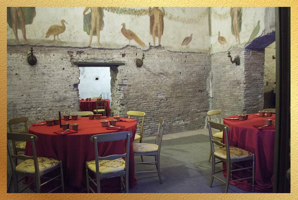 cena di gala in siti archeologici per eventi aziendali